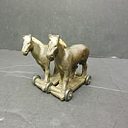 Pair of Horses on Wheeled Platform