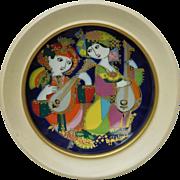 Signed Bjorn Wiinblad Studio Line Rosenthal Decorative Plate - Orientalische Nachtmusik Mandol