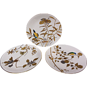 Set of Minton Porcelain Dishes With Birds