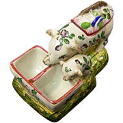 French Faience Mustard Pot By St. Clement