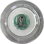 Composer J. S. Bach Daum Glass Portrait Plate