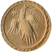 """REDUCED Heraldic """"Eagle & Star"""" Butter Mold Touch Stamp !"""