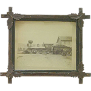 "Original Portland & Ogdensburg Railroad  Locomotive named ""Resolution"" Photo Taken between 1881 & 1888 !"