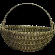 REDUCED Desirable Small Size Splint White Oak Woven Oval Basket  !