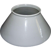 REDUCED Rare 10 inch Blown White Glass Slant Shade with 5 inch top fitter  !