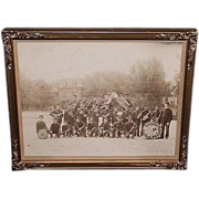 REDUCED Historic Schaefferstown,Pa. Band Group Photo in the Town Square Ca. 1911 to 1915 !!!