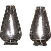 REDUCED Single 2 3/8 inch Early Blown Molded Chimney, with Notched Base & Flat Flame Shape