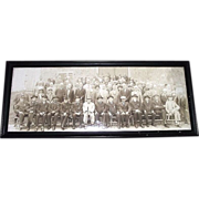 "Civil War Captain Joseph T. Tomkins Veterans Group Photo titled ""G.A.R. Diner Club Outing at Francis Farm Rehoboth,Mass. September 15,1921   L.W.Thurston Photographer"""