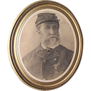 Life Size Bust Charcoal/Chalk  Portrait of a David Montgomery Post  # 264   G.A.R. Civil War Veteran  from Lycoming County Pa. Ca. 1915.