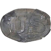 "REDUCED Civil War Period Excavated  Relic ""US Belt Buckle"" die stamped front & m"
