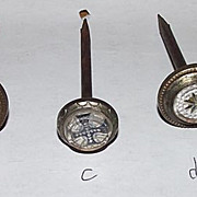 SOLD Choice of Sulphide Picture Hanger Nails  Per Piece !!!  Circa 1880.