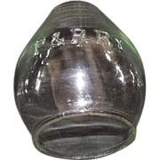 "Clear Glass  ""P. & R. Ry."" = Philadelphia & Reading Railway Lantern Globe."