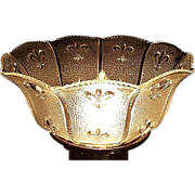 """REDUCED Near Mint """"Fleur-de-Lis"""" Pattern with Stippled Background Light Shade  with"""