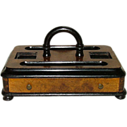 REDUCED Civil War Period Inkwell Caddy with Stationery Drawer !  Ca. 1860's.