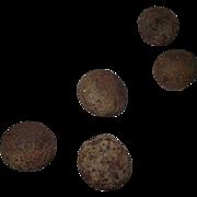 5 Civil War Period Excavated Canon Balls !!!