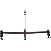 REDUCED Signed 18th Century Wrought Iron Balance Scale complete with Steel Pivot Pads, Double