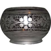 5 inch Decorated Shade for Oil Lamps or Gas Lights !!! Circa 1870.