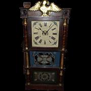 "REDUCED Pre-Civil War Period Eagle Top Triple Decker Clock with 8 Day ""Birge, Peck & Co."""