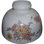 SOLD Embossed Shade Flower Decorated 10 inch for Oil Lamps Ca. 1900 !!!