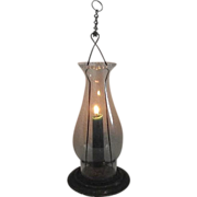 REDUCED Candle Lantern with Snug fitting Glass Chimney & Hanging Chain Circa 1900.