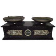 """REDUCED Apothecary / Drug Store """"Balance Scale"""" with Stone Case Circa 1890 !!!"""