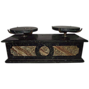 """REDUCED Apothecary / Drug Store """"Balance Scale"""" with Black Marble Trays !!!  Circa 1"""