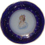 """Large 14 1/2  inch """"Royal LaBelle * Wheeling Potteries Co."""" Portrait Charger in Great Condition Circa 1899 !!!"""