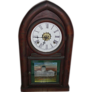 "REDUCED Waterbury ""Beehive"" Shelf Clock with Time & Strike, and Alarm, with """