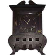 """REDUCED Rare Mission Oak """"IONA"""" Arts & Crafts Model Shelf Clock made by Sessions"""