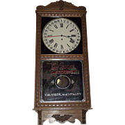 """REDUCED Near Mint  """"Dr. Pepper"""" Store Advertiser Clock with Calendar Date on Dial !!"""