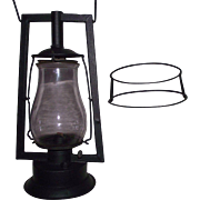"Rare Pre WW-1 DIETZ ""Square Lift Tubular"" Model Lantern Circa 1888 to 1904  with Rare ""Ovoid Wire Globe Guard"" !!!"