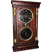 """National Calendar Clock Company"" with 8 Day Time & Chime Movement !!! Circa 1870."