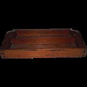 Hand Dovetailed Primitive Pine Kitchen Utensil Tray Circa 1860 !!!