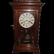 "REDUCED RARE Seth Thomas ""Garfield"" Model Solid Walnut Shelf Clock with Time & Strik"