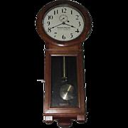 "Early ""Virginian Railway"" Seth Thomas #2 Regulator Clock with 3 Piece Bottom in a Pr"