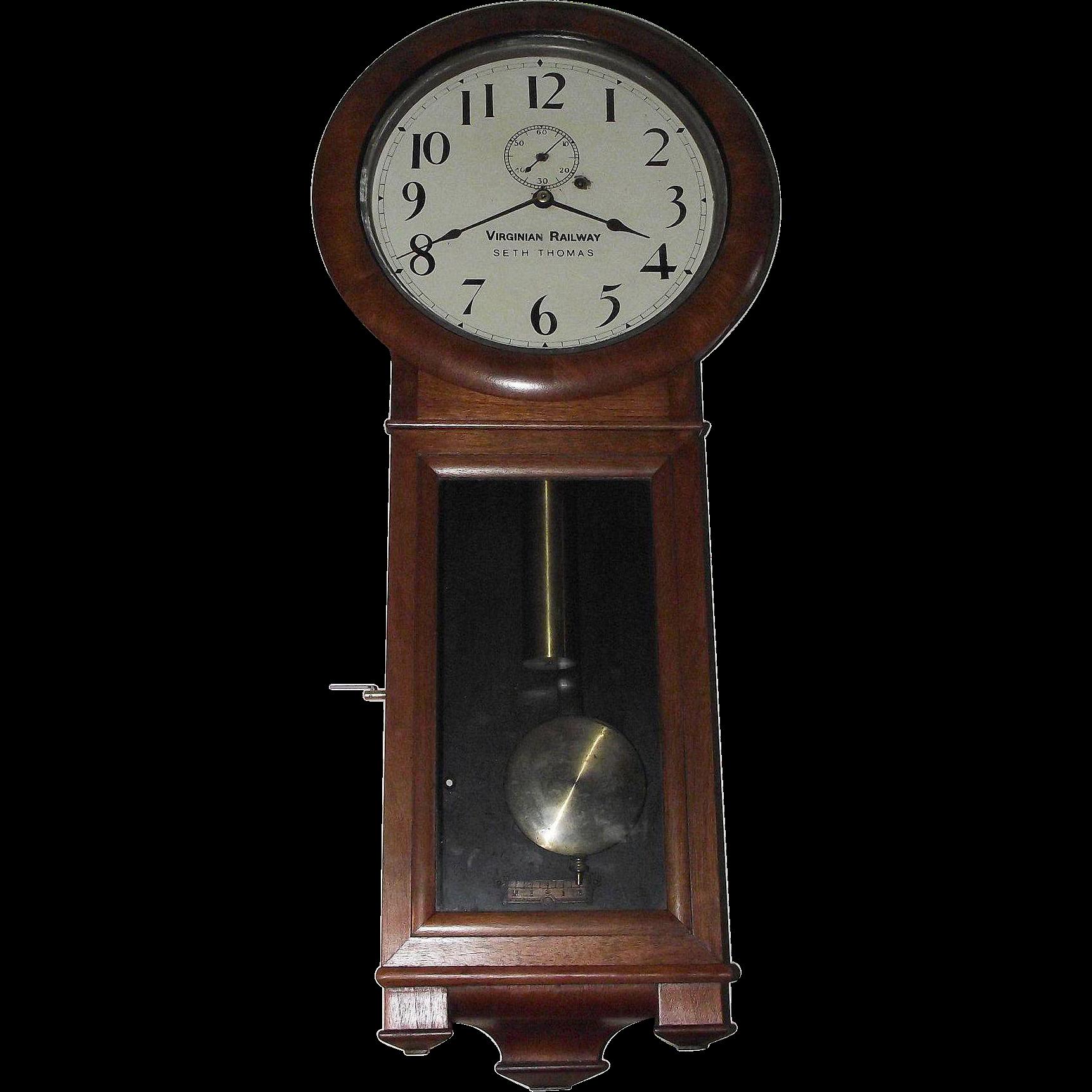 Early Virginian Railway Seth Thomas 2 Regulator Clock