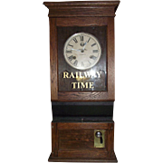"Southern Pacific Railroad Workers Time Clock with 30 Day ""Seth Thomas # 86 F Movement"""