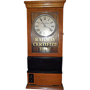 """Baltimore & Ohio Railroad Company"" Workers Time Clock Dated 1924  !!!"