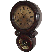 """Rosewood """"Ionic"""" Model Wall Clock with 8 Day Time & Strike movement made by E. Ingra"""