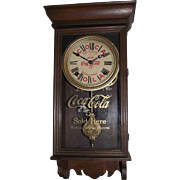 """Super Rare """"Coca-Cola Salesman Sample Advertising Clock"""" made by Sessions Clock Co."""