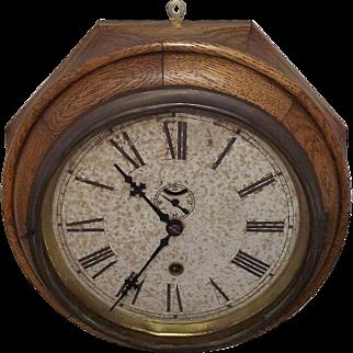 """Oak Lever"" Model 8 Day Waterbury Ship's Clock Circa 1917 !!!"