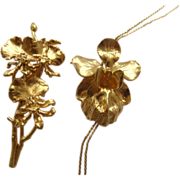 Risis 24k Gold Dipped Orchids Demi