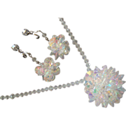 "Stunning ""Crystal Ball"" Necklace & Earrings"