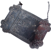 SALE PENDING Victorian Aesthetic Sterling Calling Card Case