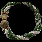 Gorgeous Hobe Beaded Torsade Shell Necklace