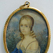 Early 19th c. Miniature Portrait - Signed Bekel