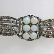 Magnificent Art Deco Sterling Silver & Opal Theodor Fahrner Bracelet