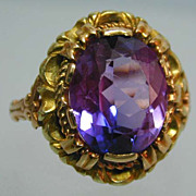 Exquisite Victorian 18K Gold Amethyst Ring