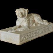 Antique Minton Recumbent Setter Dog C1831-1840