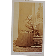 SOLD Antique CDV Photograph ~ Queen Victoria & Her Dog Sharp